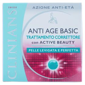Image of Clinians Anti Age Basic Trattamento Correttore con Active Beauty 50 ml 8003510025015