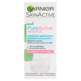 Image of Garnier Pure Active Sensitive Crema Anti-Imperfezioni Opacizzante per Pelli Sensibili 50 ml 3600541609624