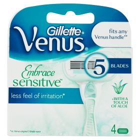 Image of Gillette Venus Embrace Sensitive 4 Ricariche 7702018352883