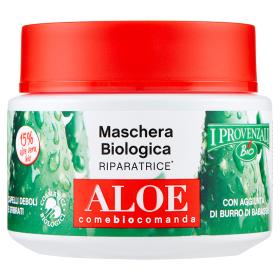 Image of I Provenzali Maschera Biologica Riparatrice Aloe Capelli Deboli e Sfibrati 200 ml 8025796004782