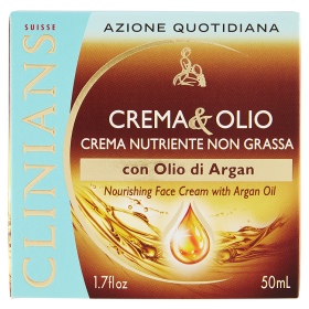 Image of Clinians Crema&Olio Crema Nutriente Non Grassa con Olio di Argan 50 ml 8003510027187