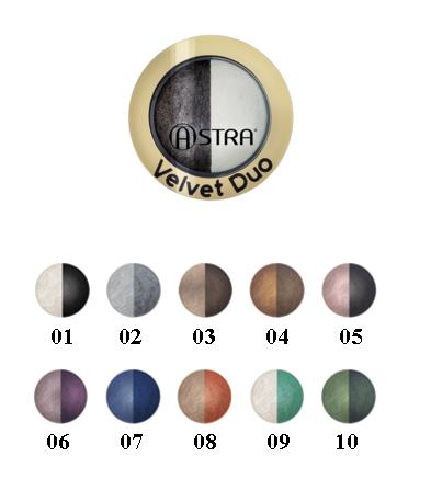Image of Astra Velvet Duo - Ombretto 01 Smoky Perfect 8057018242450