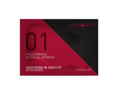 Image of Almarés 01 Melograno + Acido Ialuronico Maschera in Tessuto Rivitalizzante 8051566429141
