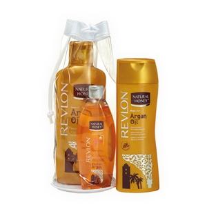 Image of Natural Honey Summer Bag Argan - Body Lotion 330 ml + Shower Gel 650 ml + Olio Copro 300 ml 8007376036086