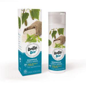 Image of Bolle Bio Shampoo Capelli Grassi con Riso, Betulla e Ortica 200 ml 8032649452942
