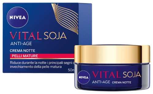 Image of Nivea Vital Soja Anti-age crema notte pelle mature 50 ml 9386616051006