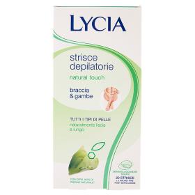 Image of Lycia Natural Touch Strisce Depilatorie tutti i tipi di Pelle Braccia & Gambe 20 Strisce 8033828721279