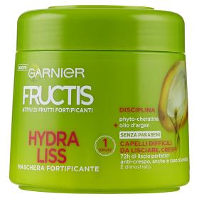 Image of Fructis Hydra Liss - Maschera per Capelli Difficili da Lisciare, Crespi 300 ml 3600540557742