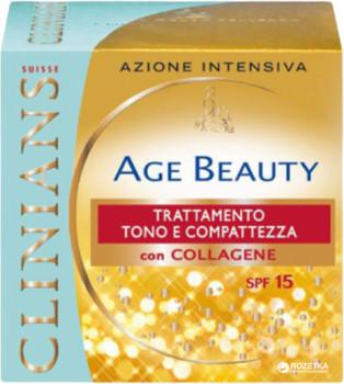 Image of Clinians Age Beauty Crema Pelli Mature Trattamento Tono E Compattezza SPF15 50 ml 8003510016372