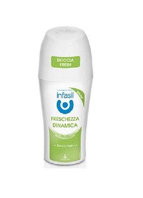 Image of Infasil Doccia Fresh Freschezza Dinamica - Deodorante Roll-On 50 ml 5013965827143