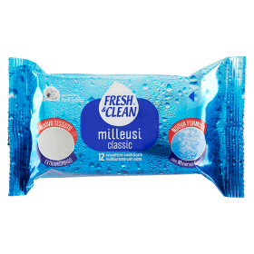 Image of Fresh&Clean Milleusi Classic 12 Salviettine Umidificate 80381976