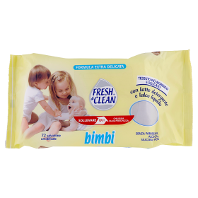 Image of Fresh&Clean Bimbi salviettine umidificate 72 pz 8002340005068