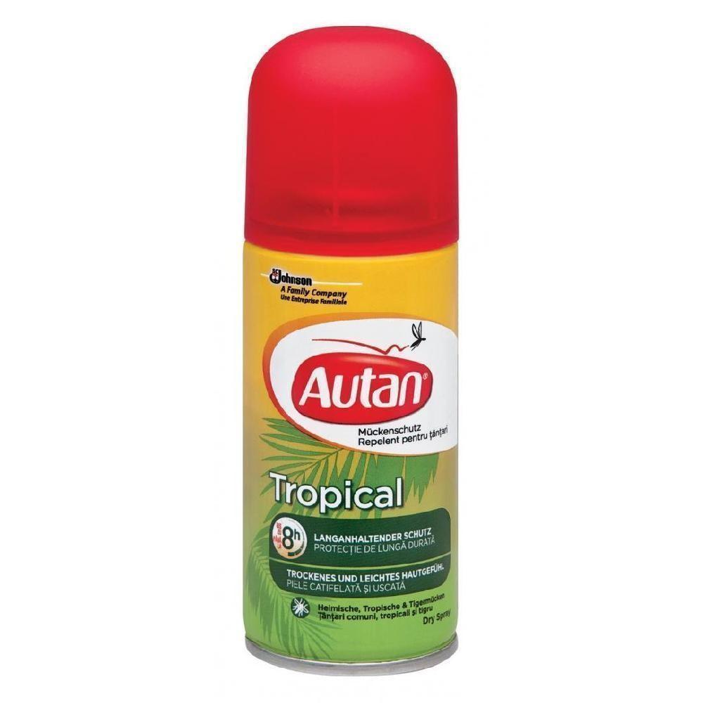 Image of Autan Tropical Spray Secco Protezione Insetti 100 Ml 5000204645354