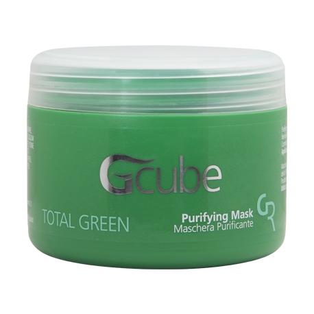 Image of Gcube Total Green Purifying Mask - Maschera Purificante per cute e capelli sensibili 200 ml 8054181910223
