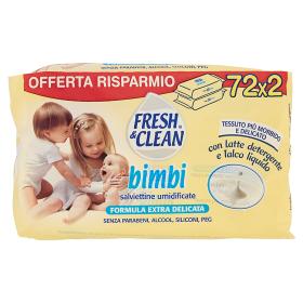 Image of Fresh&Clean Bimbi Salviettine Umidificate 72 x 2 8002340005105