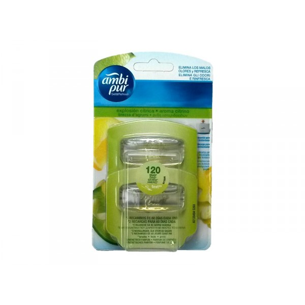 Image of Ambi Pur Deodorante Per Ambienti Ricarica Limone Set & Refresh 5410076830053