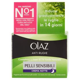 Image of Olaz Anti-Rughe Crema Notte Pelli Sensibili 50 ml 5410076780259