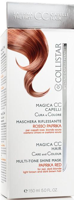 Image of Collistar Magica CC Capelli Maschera Riflessante Cura e Colora - Rosso Paprika 150 ml 8015150292795