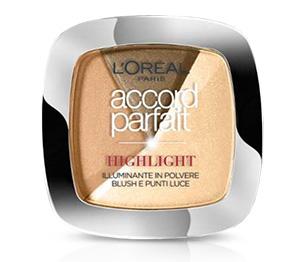 Image of L´Oréal Paris Accord Parfait Highlight - Illuminante in Polvere Blush e Punti Luce 102D Scuro 3600523300488