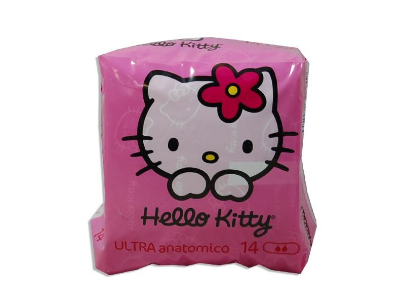Image of Hello Kitty Assorbenti Esterni Ragazze Ultra Anatomico 1 Confezione 14 Assorbenti 8000249124149