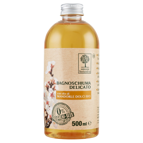 Image of Omnia Botanica Bagnoschiuma Delicato con olio di Mandorle Dolci Bio 500 ml 8051070259333