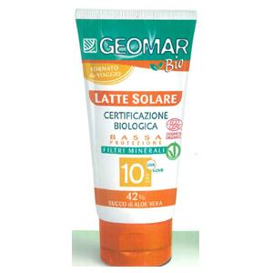Image of Geomar Bio Latte Solare Certificazione Biologica SPF 10 100 ml 8003510029358
