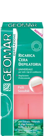 Image of Geomar Cera Depilatoria Naturale Rosa Per Pelli Sensibili Ricarica Universale 100 Ml 8003510020362