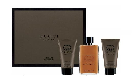 Image of Gucci Cofanetto Gucci Guilty Absolute Uomo - Eau de Parfum 50 ml + Balsamo Dopobarba 50 ml + Gel Doccia 50 ml 8005610479194