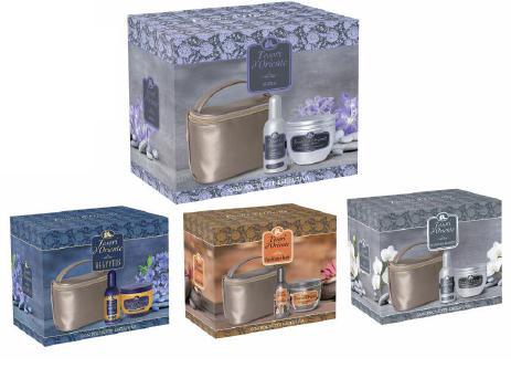 Image of Tesori d´Oriente Cofanetto Profumo 100 ml + Crema Corpo 300 ml + Pochette Varie Fragranze 8008970044637