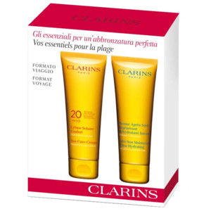 clarins cofanetto solare creme solaire comfort spf 20 100 ml baume apres. Black Bedroom Furniture Sets. Home Design Ideas