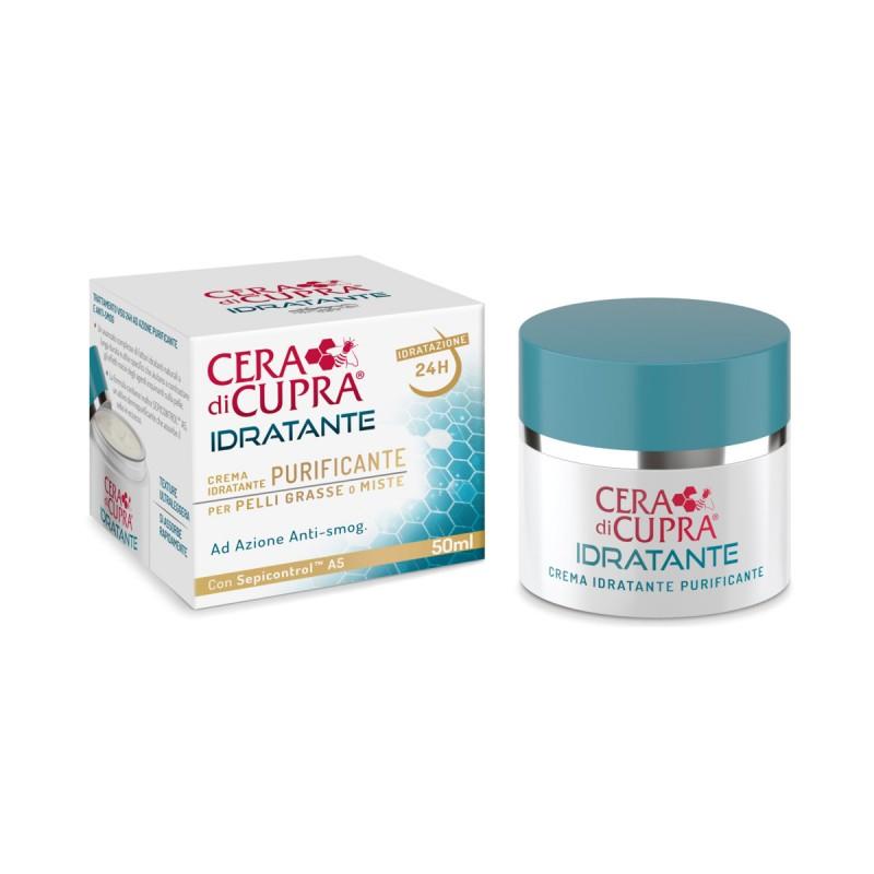 Image of Cera di Cupra Crema Idratante Purificante Pelli Grasse o Miste 50 ml 8002140052804