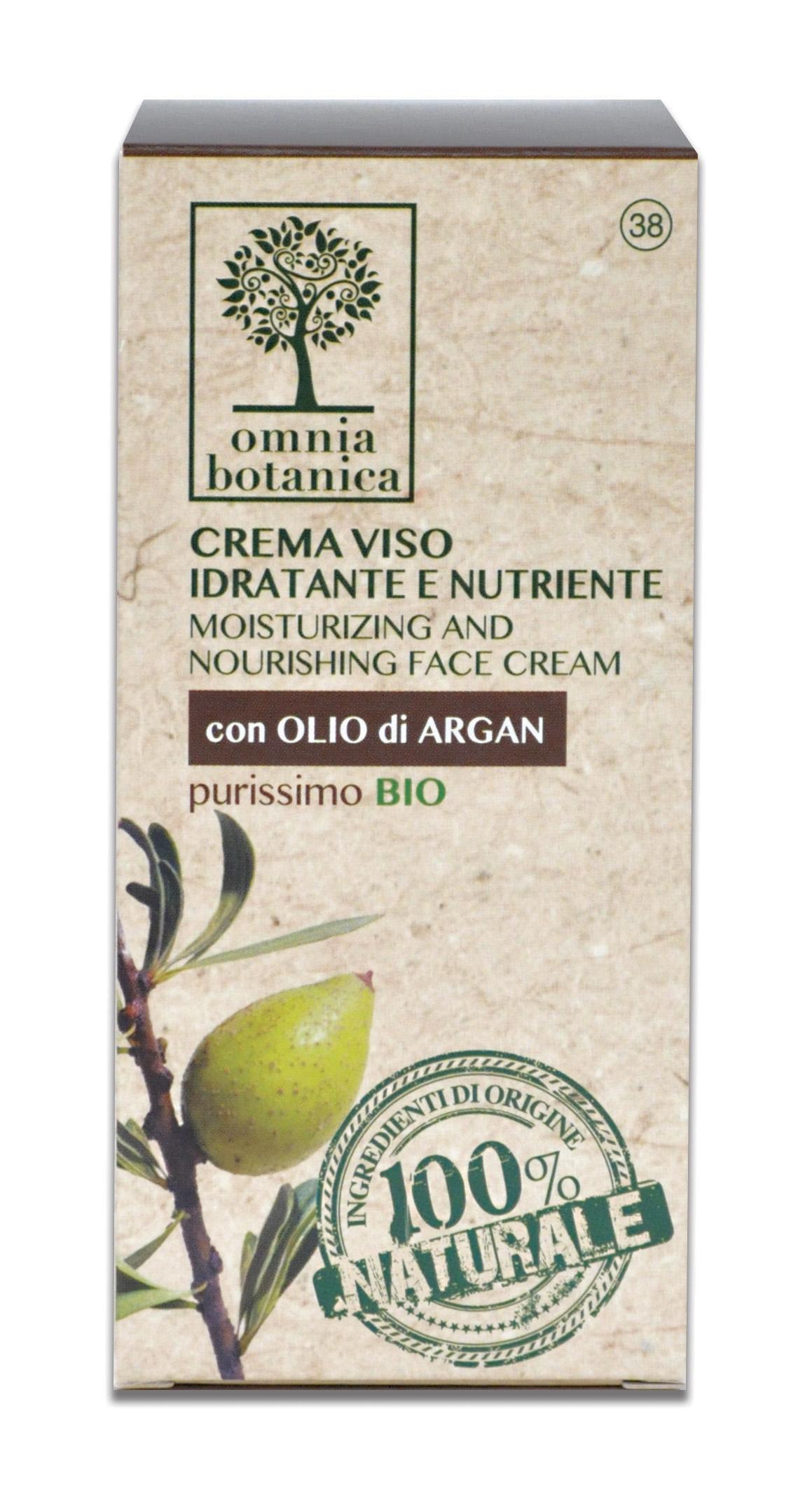 Image of Omnia Botanica Crema Viso Idratante e Nutriente con olio di Argan Purissimo 50 ml 8033629074857