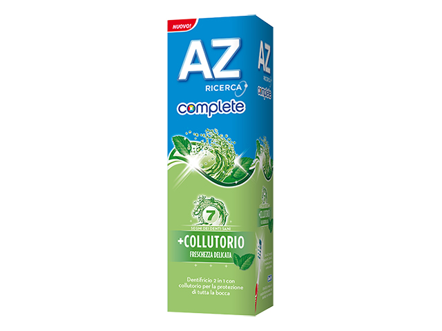 Image of Az Dentifricio + Colluttorio Freschezza Delicata 75 ml 5011321610842