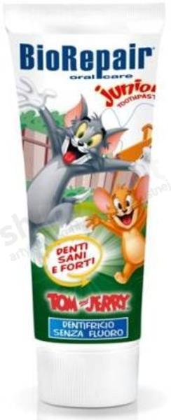 Image of Biorepair Dentifricio Per Bambini Tom & Jerry Senza Fluoro Oral Care Junior 75 Ml 8017331016992