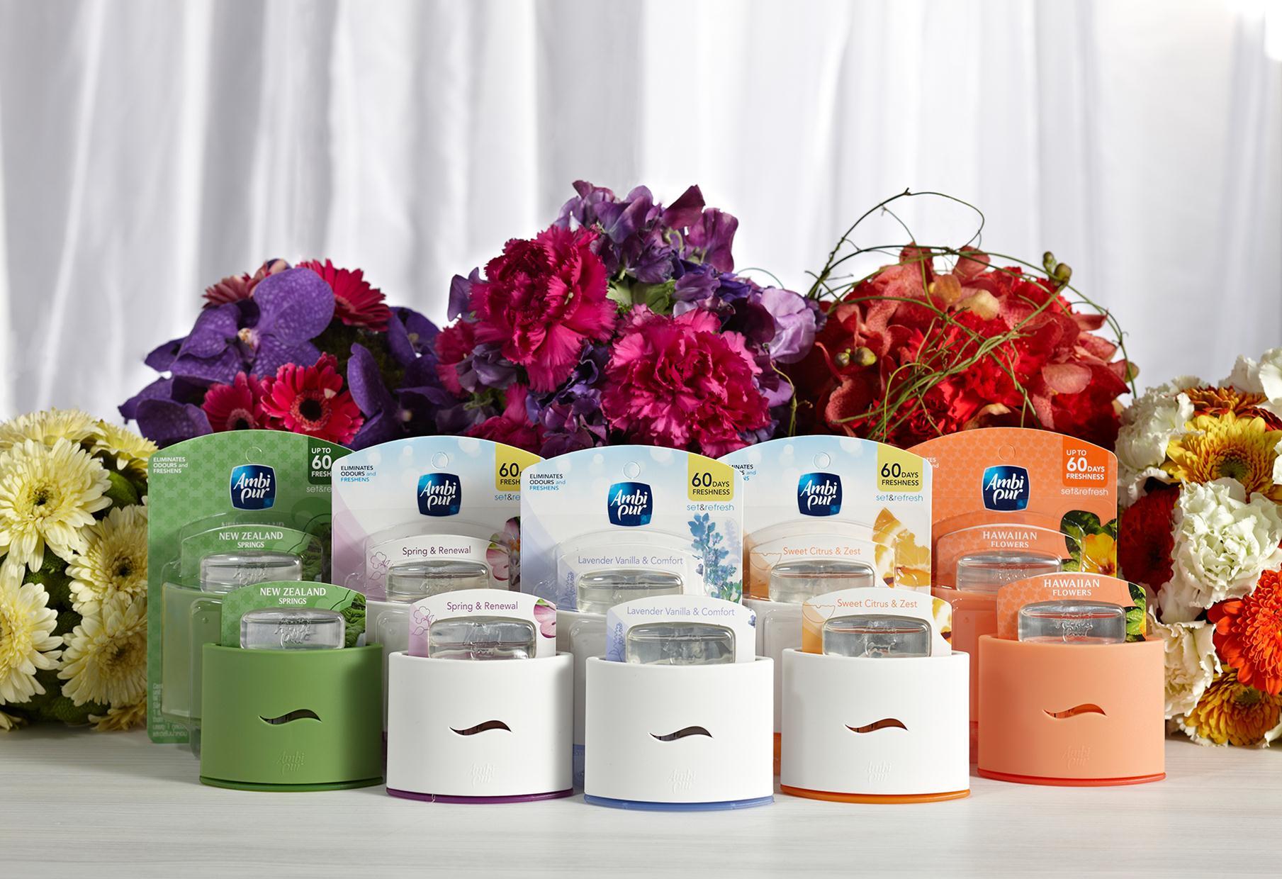 Image of Ambi Pur Deodorante Per Ambienti Starter Kit Confezione Regalo Limone Set & Refresh 5410076829927