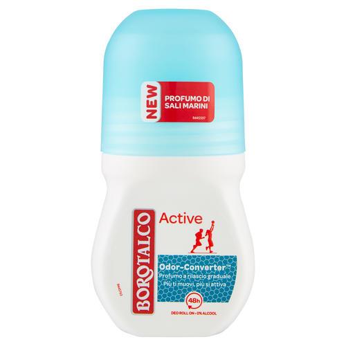 Image of Borotalco Deodorante active blue 0% alcool - Roll-on 50 ml 80859840