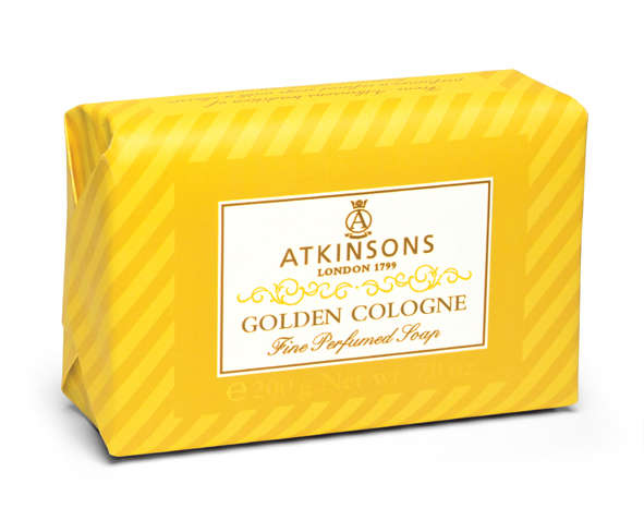 Image of Atkinsons Fine Perfumed Soaps Sapone Golden Cologne 200 gr 8000600002789