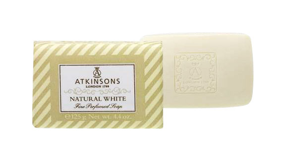 Image of Atkinsons Fine Perfumed Soaps Sapone Natural White 125 gr 8000600004905