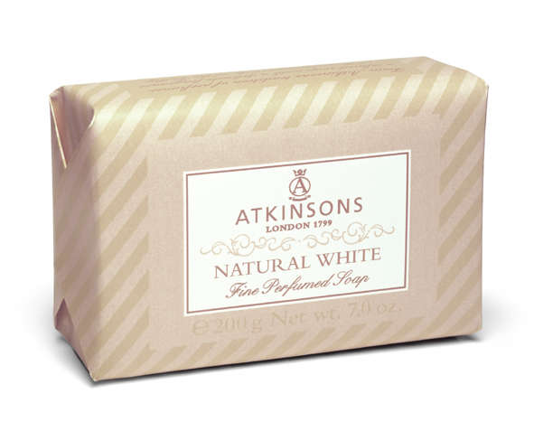 Image of Atkinsons Fine Perfumed Soaps Sapone Natural White 200 gr 8000600004882