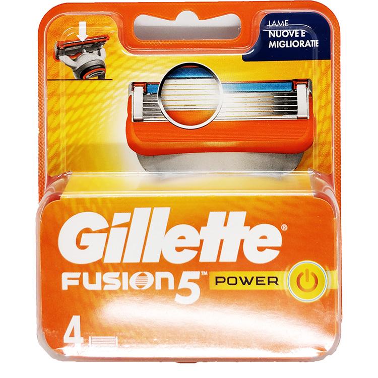 Image of Gillette Fusion 5 Power - 4 lame di ricambio 7702018482337