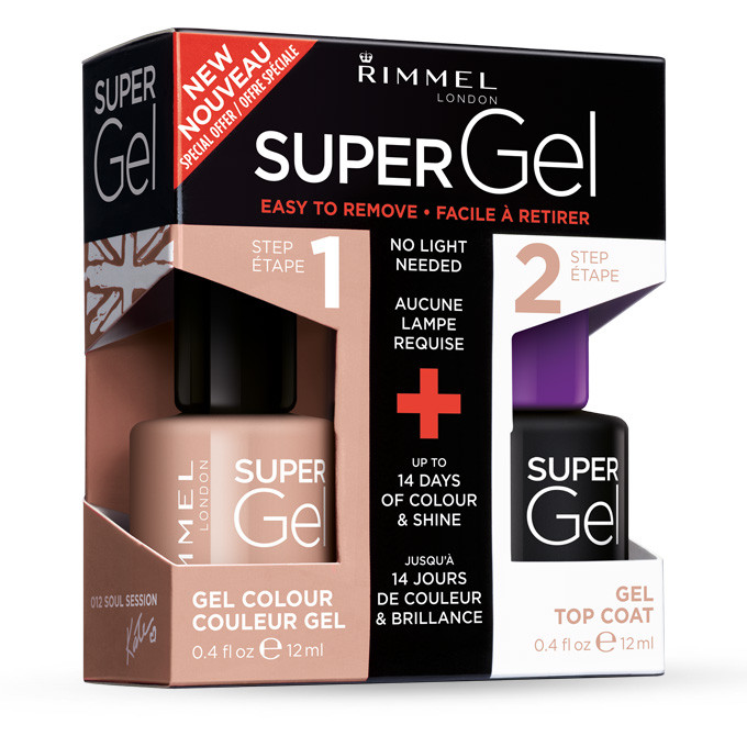 Image of Rimmel Kit Duo Smalto - Super Gel 012 Soul Session + Top Coat 3614224621308