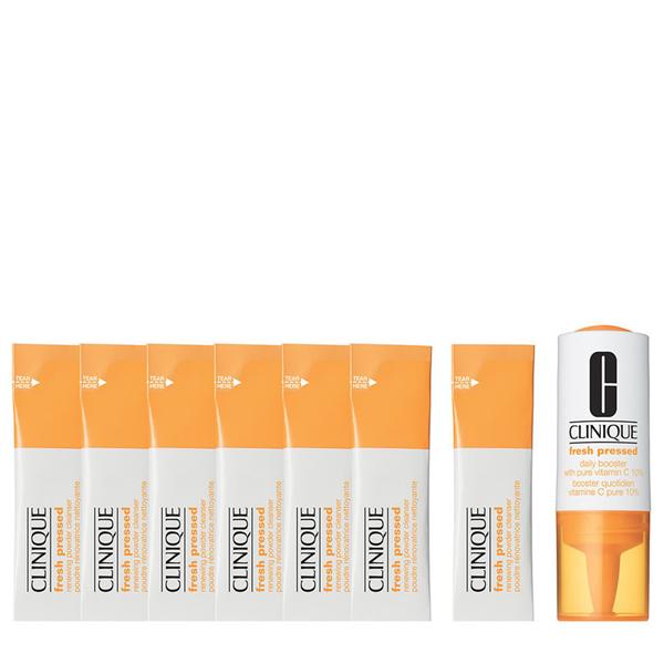 Image of Clinique Kit Fresh Pressed 7-Day System - Detergente Viso 7 pz X 0,5 g + 1 Fiala di Attivatore di Trattamento 8,5 ml 0020714850975