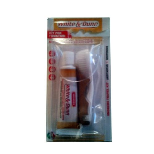 Image of Piave Kit per fumatori spazzolino da viaggio + dentifricio sbiancante 8009315034009