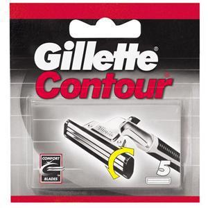Image of Gillette Lame Di Ricambio Bilama Per Rasoi Contour 1 Confezione Da 5 Lamette 3014260210632