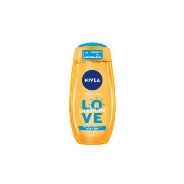 Image of Nivea Love Sunshine - Doccia Gel Aloe Vera 250 ml 4005900517111