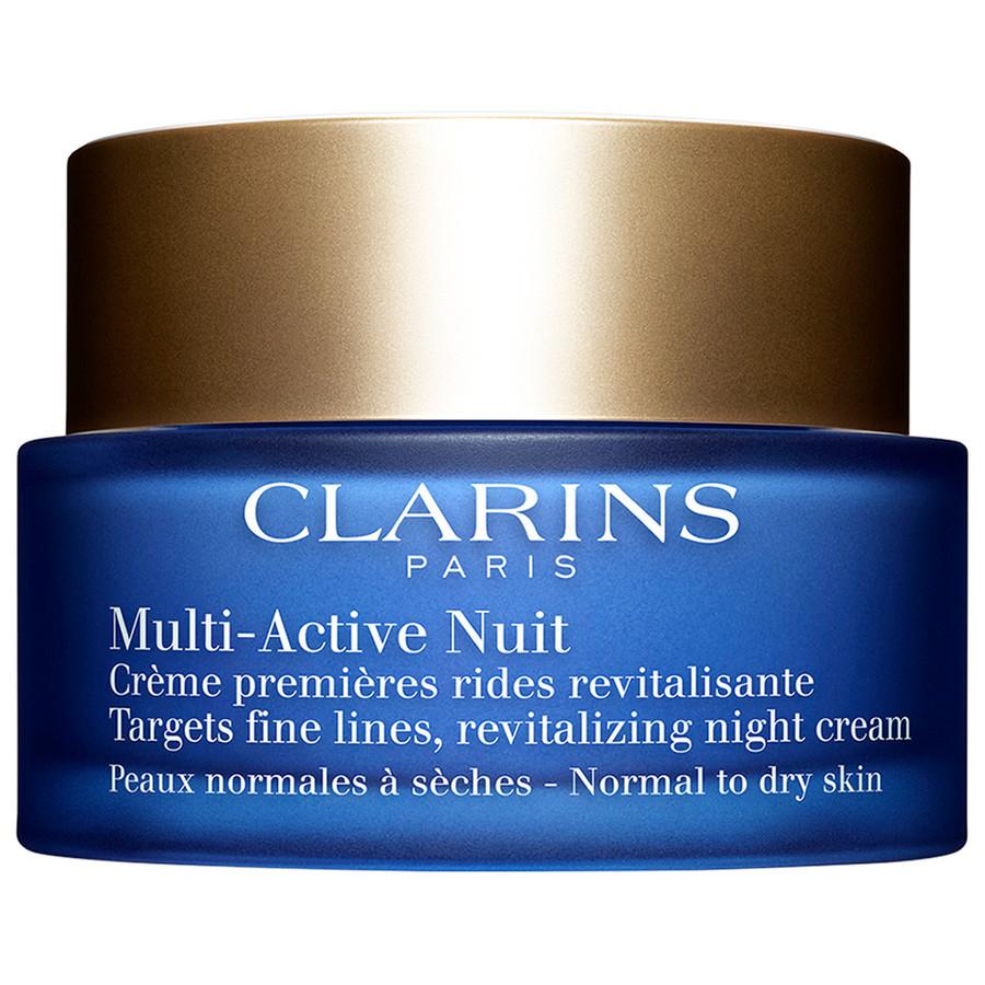 Image of Clarins Multi-Active Nuit Confort - Crema Viso Notte Prime Rughe Pelli da Normali a Secche 50 ml 3380810045345