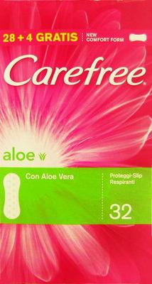 Image of Carefree Proteggi Slip Aloe Delicatamente Profumati 30 Salva Slip 3574660039573