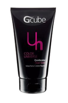 Image of Gcube Quickcolor - Maschera Colore Rapido 150 ml Silver Violet 8054181910414