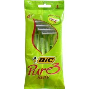 Image of Bic Rasoio Bagno Doccia Usa E Getta Pure 3 Lady 4 Pezzi 3086126726984