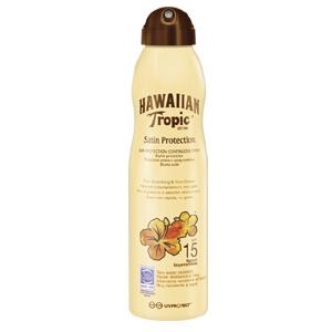Image of Hawaiian Tropic Satin Protection Spray Lotion SPF 15 220 ml 5099821001872
